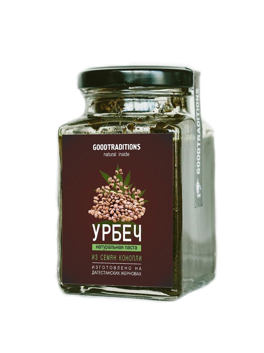 Урбеч из семян конопли, Добрые Традиции, 260мл