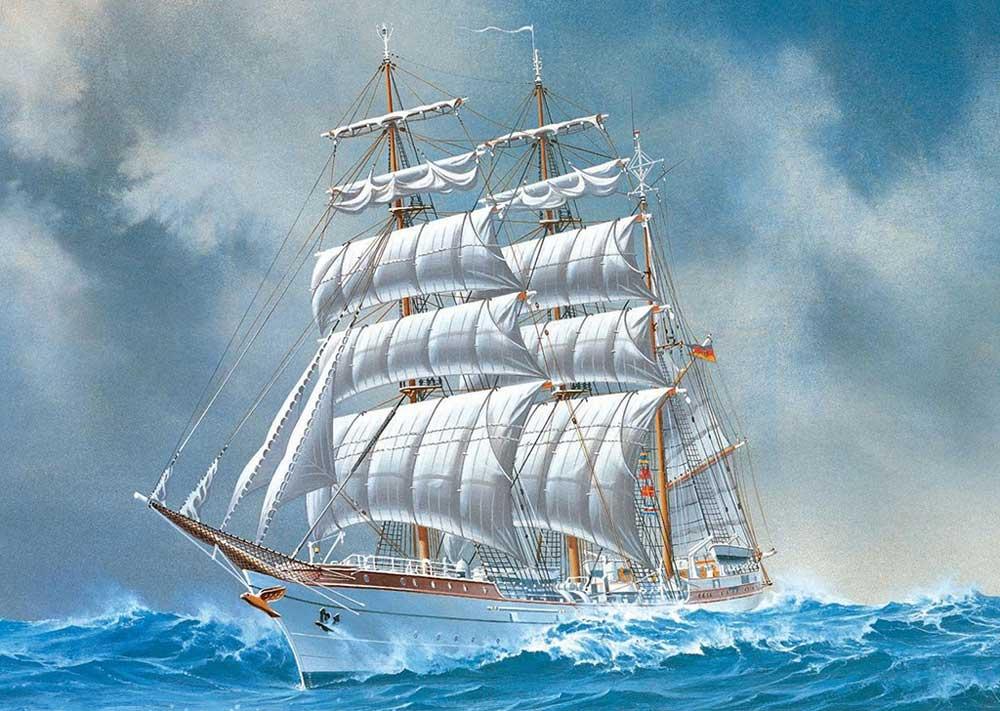 Днем рождения, открытки с кораблем и морем