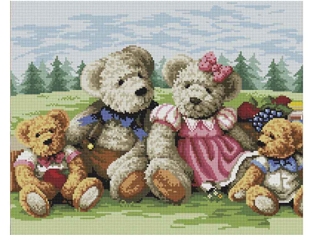Фото - Алмазная мозаика Painting Diamond Семья медведей, 40x50 см россия ск семья медведей 98974
