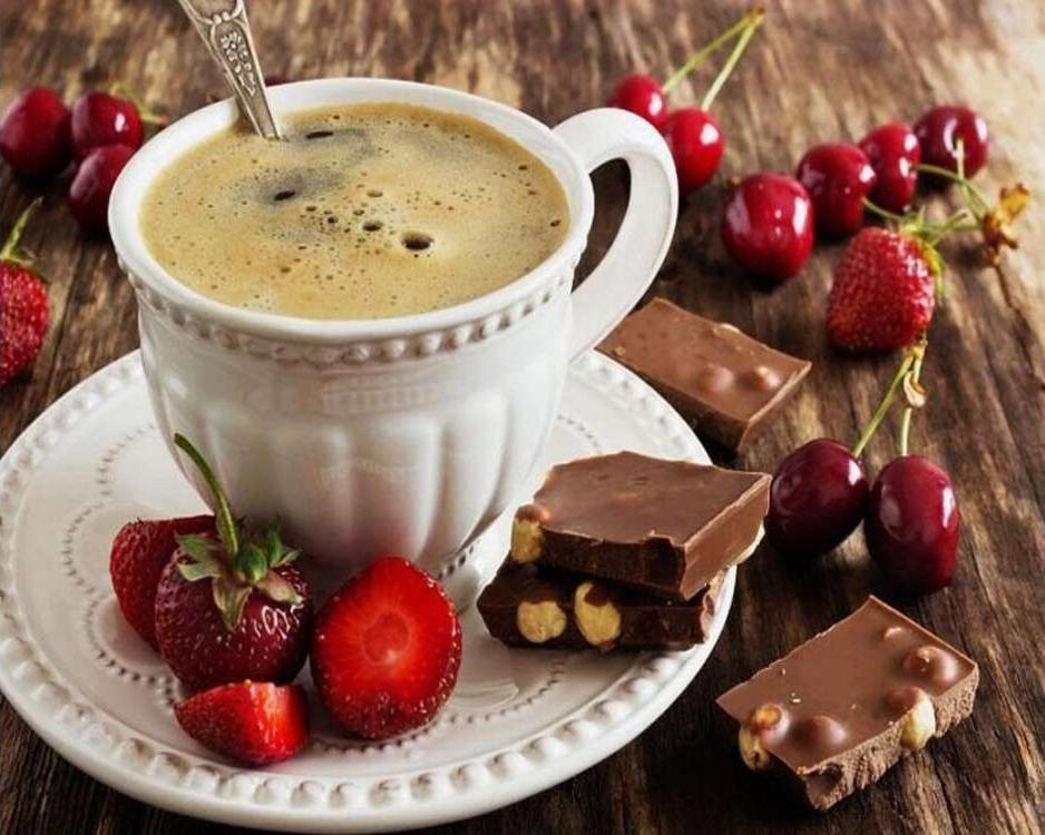 Открытка вкусная с добрым утром, смешные фрукты