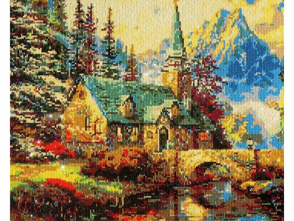 """Алмазная мозаика Color KIT """"Домик в горах"""", 40x50 см"""