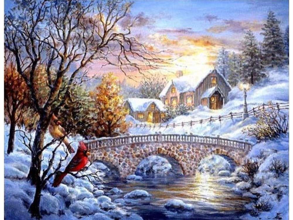 Картинки с красивыми новогодними пейзажами, вас