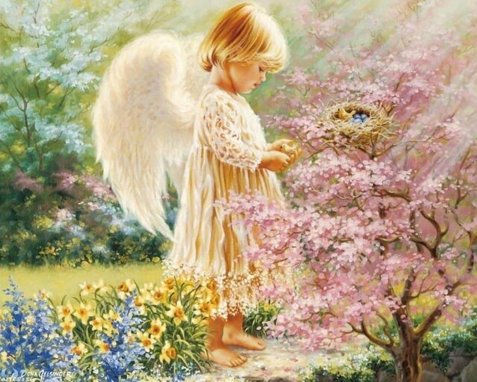 """Алмазная мозаика ТМ Цветной """"Маленький ангел"""", 40x50 см"""