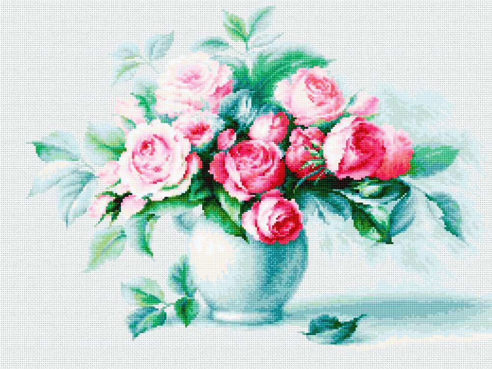 Алмазная мозаика ТМ Цветной Восхитительный букет, 30x40 см