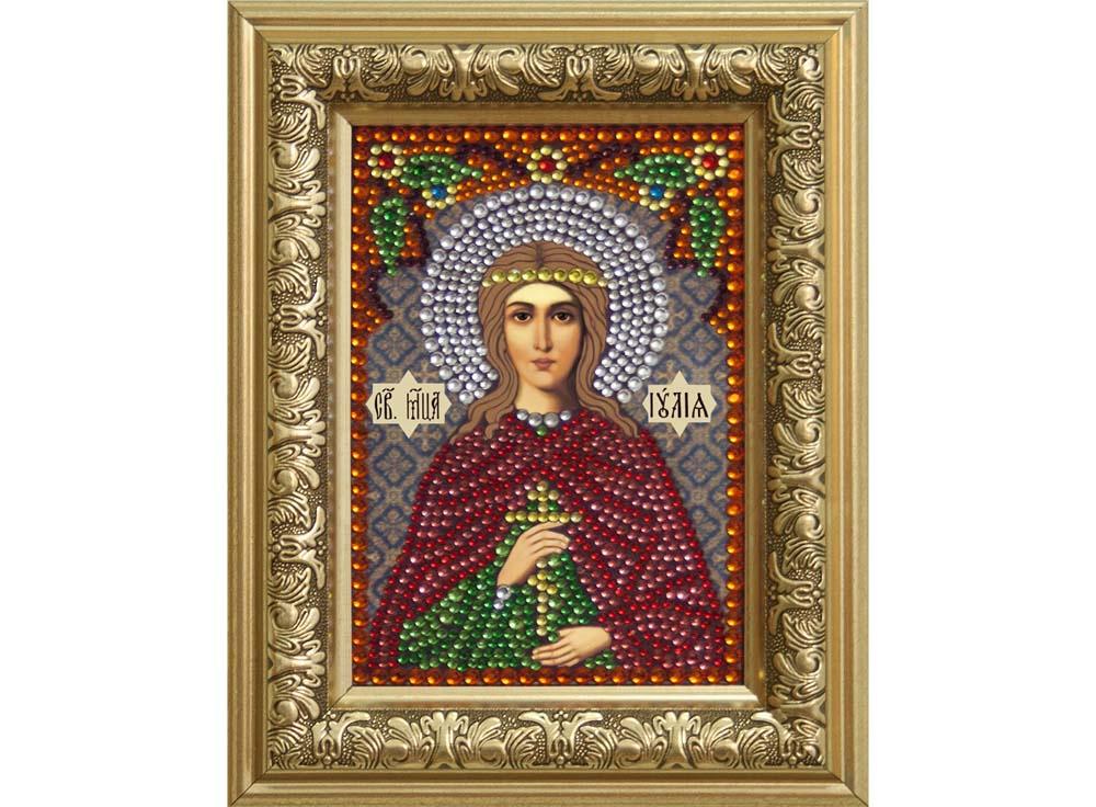 Алмазная мозаика Преобрана Святая мученица Иулия (Юлия), 10,5x14,8 см икона юлия мученица