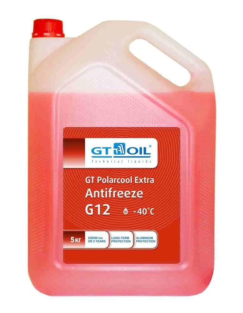 Антифриз GT Polarcool Extra Antifreeze G12 (красный), 5 кг