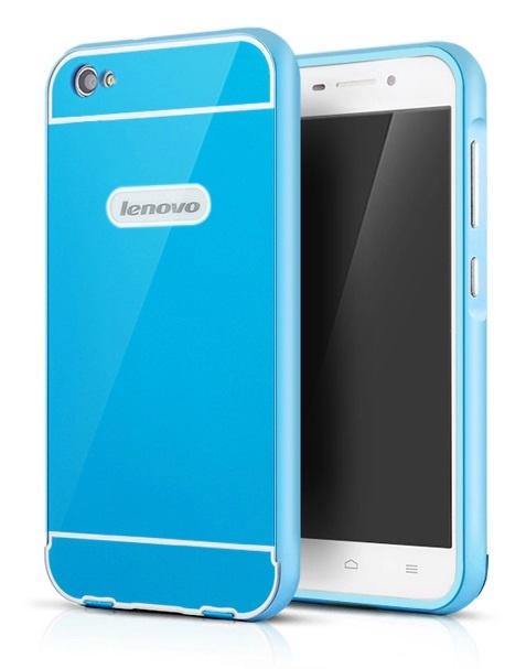 Чехол-бампер MyPads для HTC Desire 826 c алюминиевым металлическим бампером и поликарбонатной накладкой синий