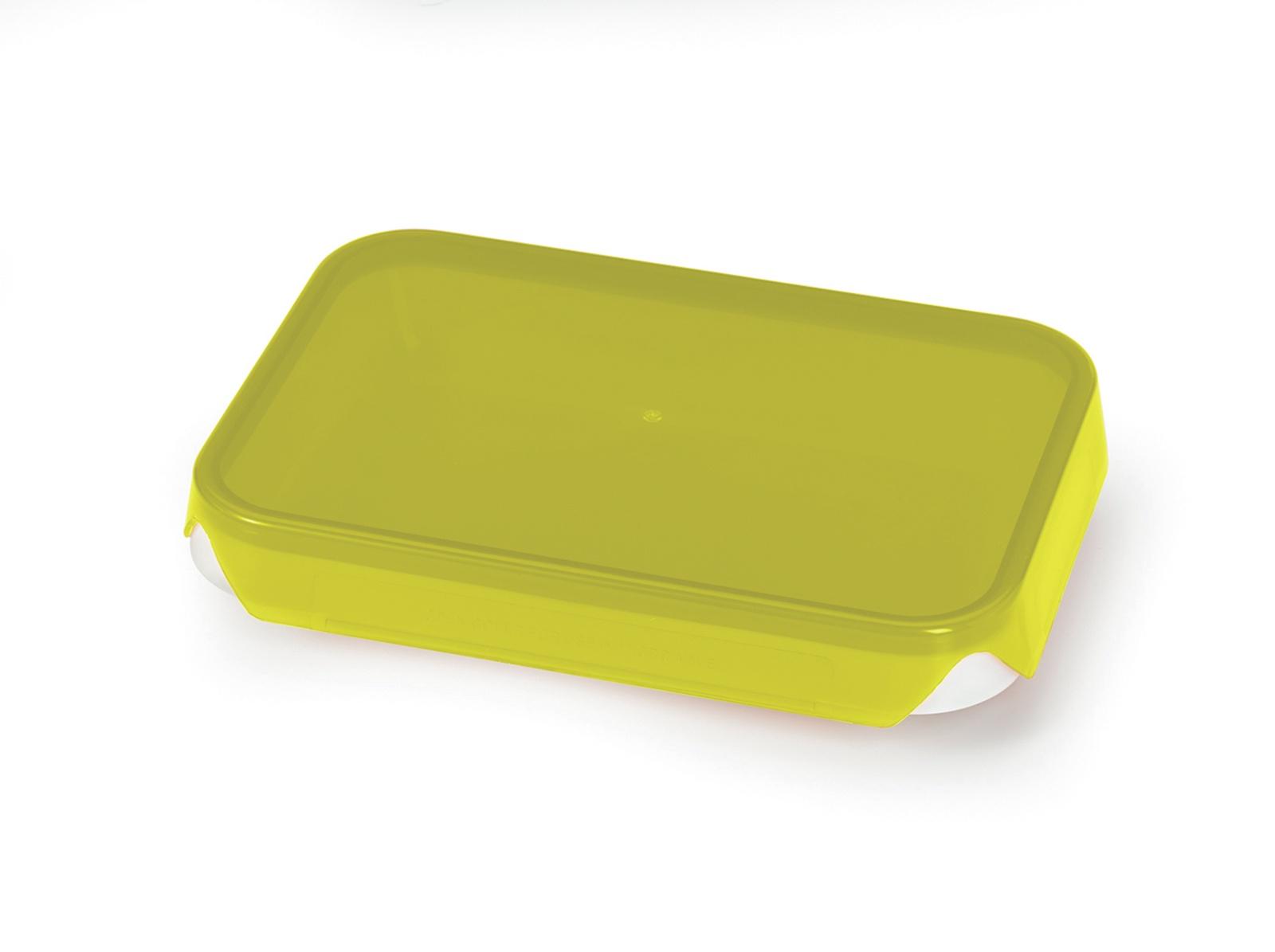 Герметичный плоский пластиковый контейнер 600мл/ Прозрачная крышка