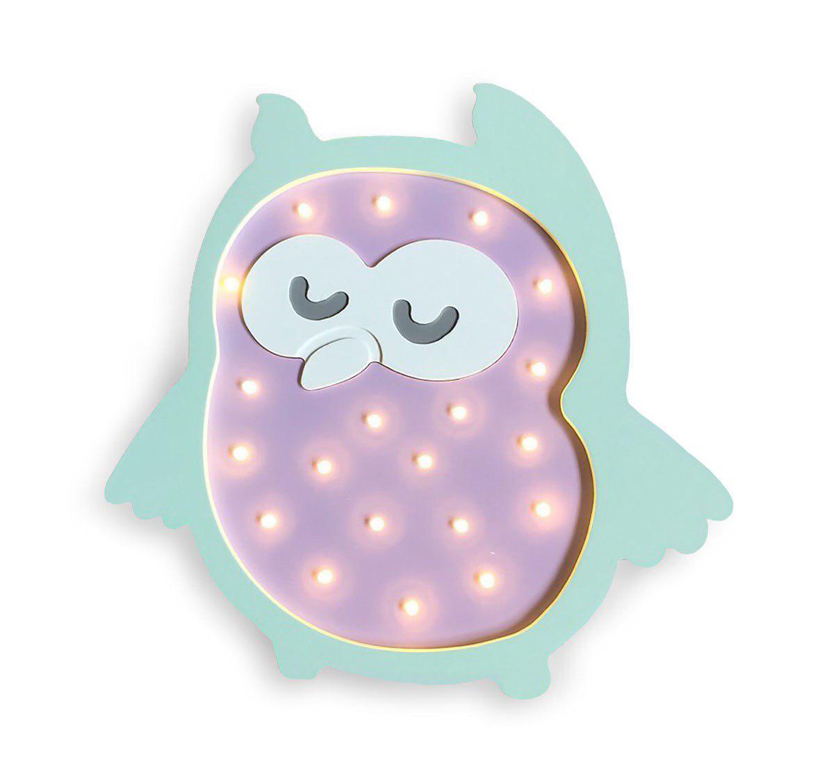 Ночник детский Совенок AKLIGHT010 фиолетовый, мятный