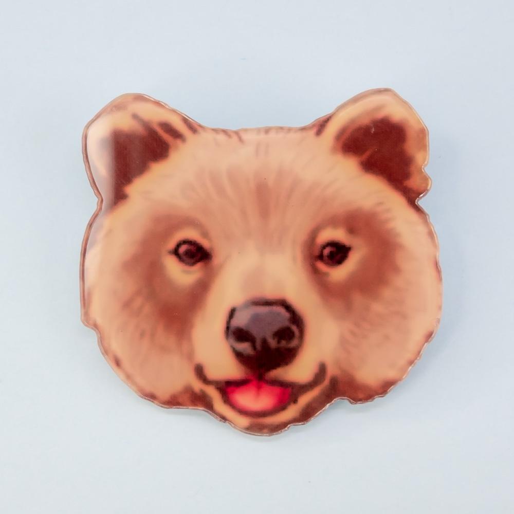 Брошь бижутерная OTOKODESIGN брошь медведь