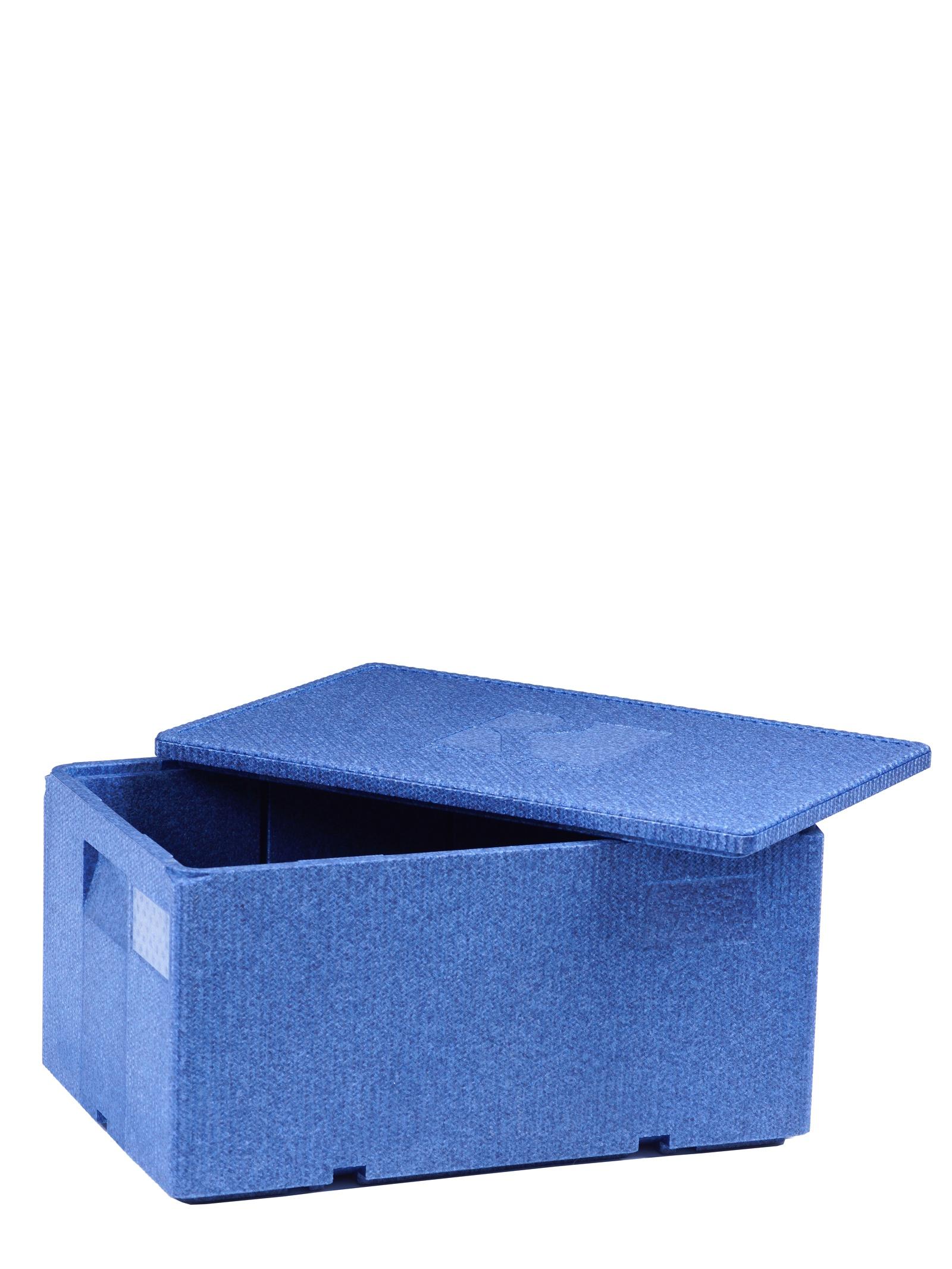 Изотермический контейнер Royal Box Unique синий, 49л