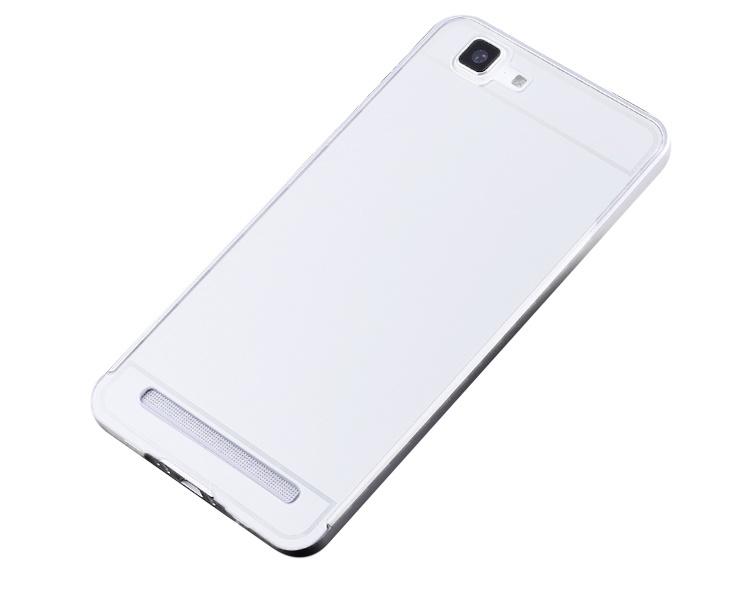 Чехол-бампер MyPads для Xiaomi MI3 c алюминиевым металлическим бампером и поликарбонатной накладкой белый