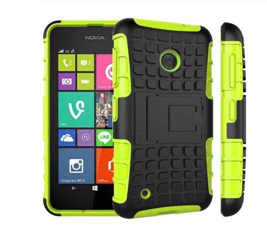 Чехол-бампер MyPads для Nokia lumia 530 Противоударный усиленный ударопрочный зеленый