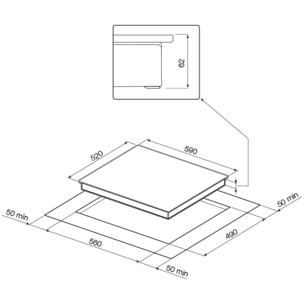 Индукционная варочная панель GRAUDE IK 60. 0 KEL GRAUDE