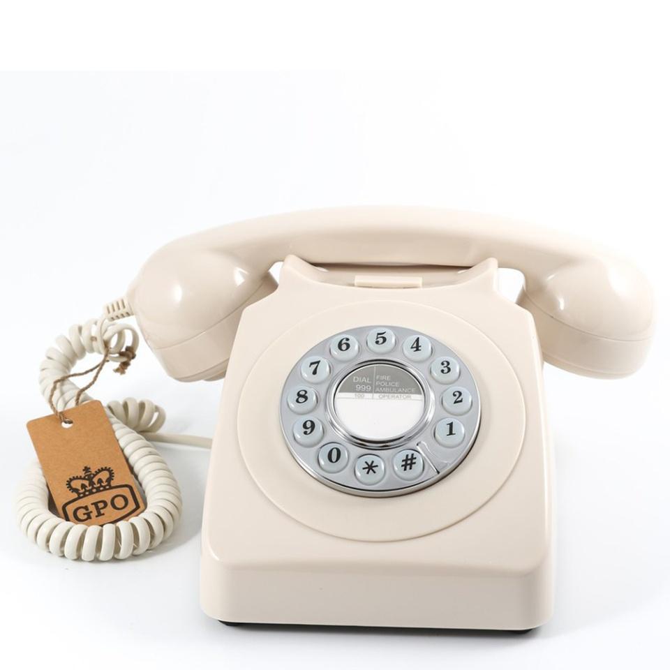 Кнопочный ретро телефон GPO 746 PB IVORY цвет слоновая кость