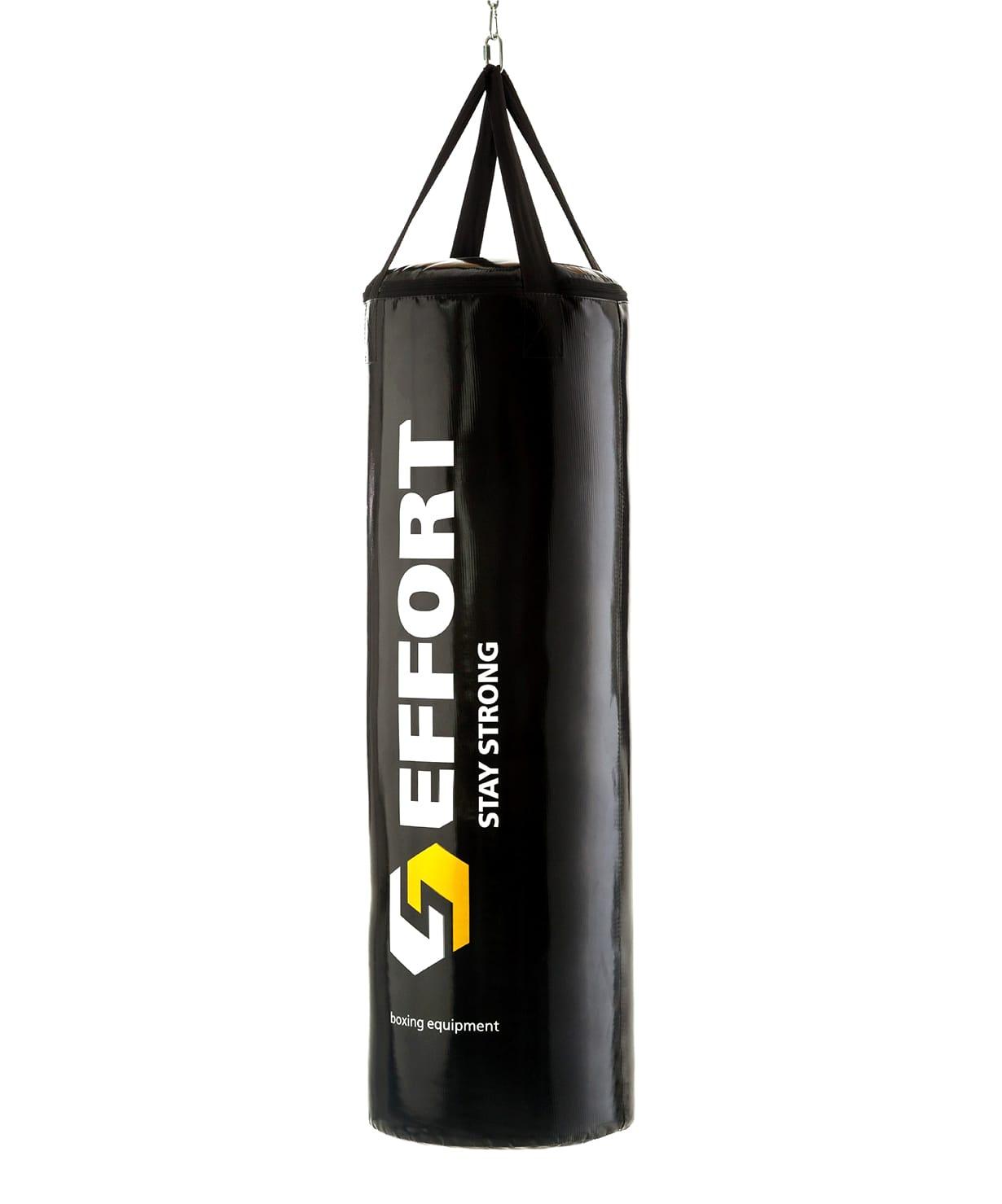 Мешок боксерский Effort E153, тент, 11 кг, черный мешок боксерский атлет sportlim 25 кг