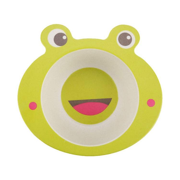 Детская тарелка, цвет зеленый, 17х16х4,8 см