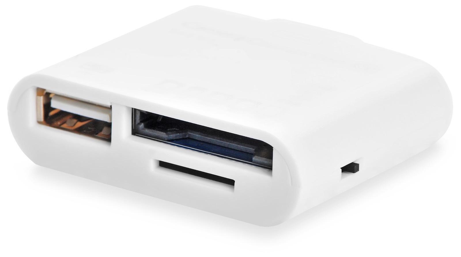 Адаптер переходник Gurdini Camera Connection Kit For iPad 5в1,110049,белый программа видеозаписи с веб камеры