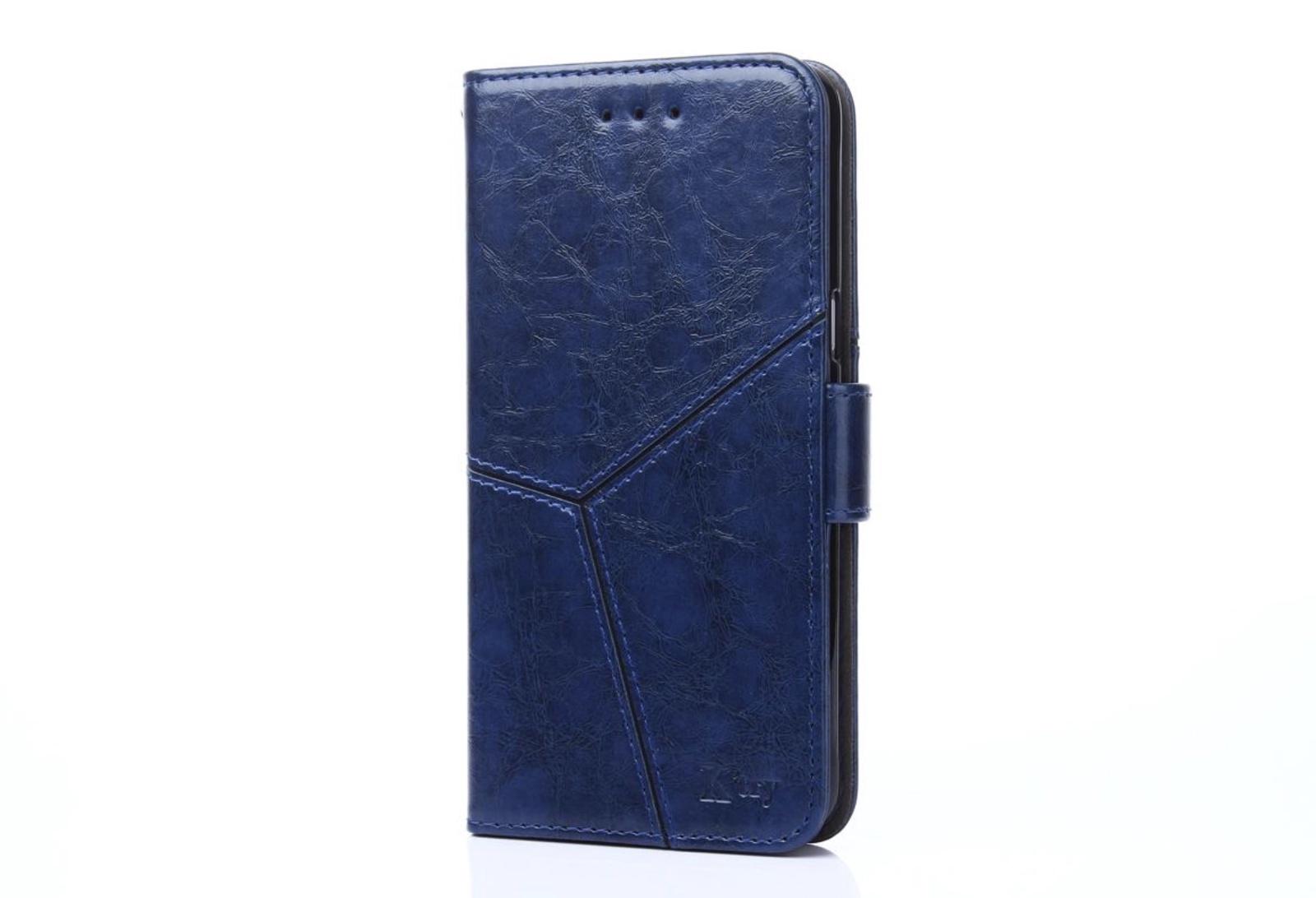 Чехол-книжка MyPads для Sony Xperia XZ/XZs/ XZ Dual 5.2 (F8331 / F8332) прошитый по контуру с необычным геометрическим швом синий