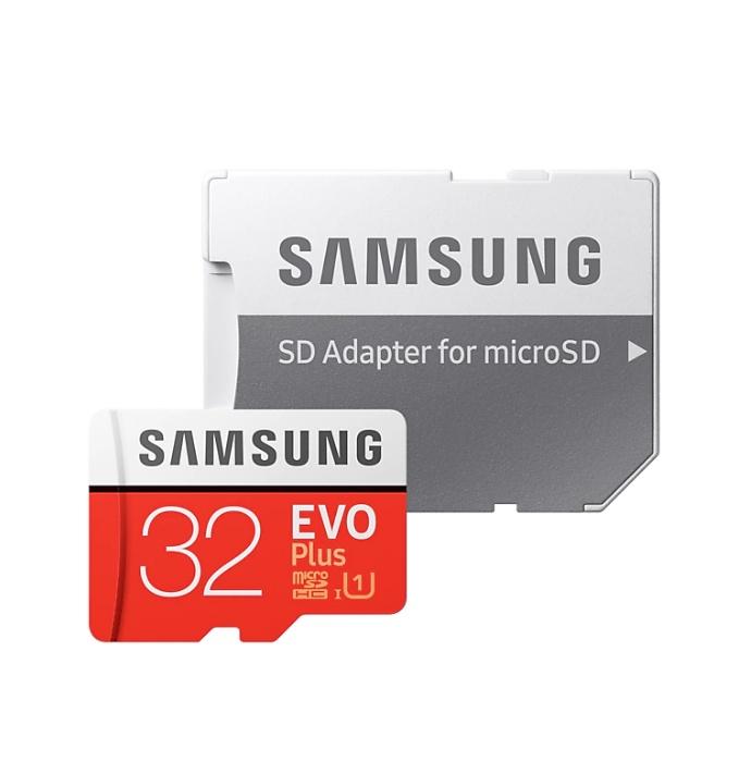 Карта памяти с адаптером Samsung EVO+ microSDHC 32 GB, UHS-1 Class 10 (95MB/s) видео для samsung s
