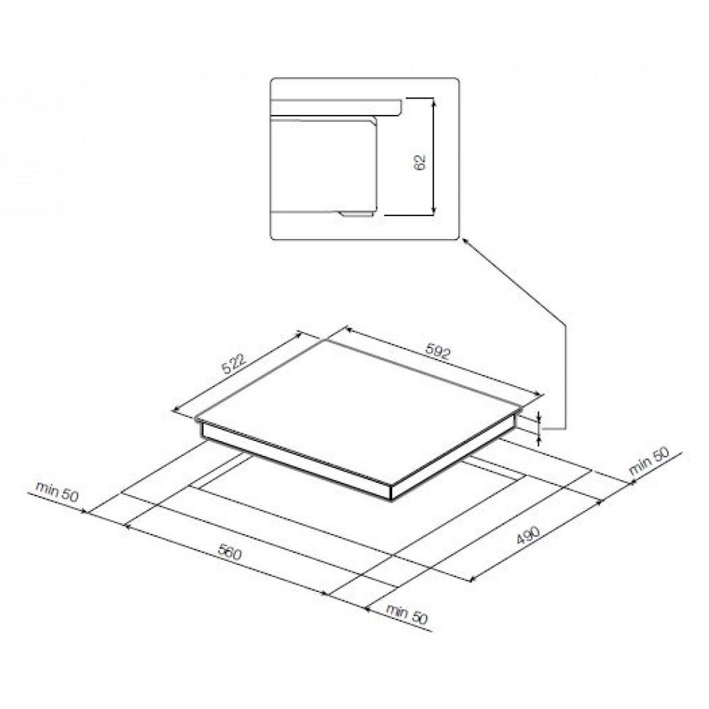 Индукционная варочная панель GRAUDE IK 60. 1 E GRAUDE