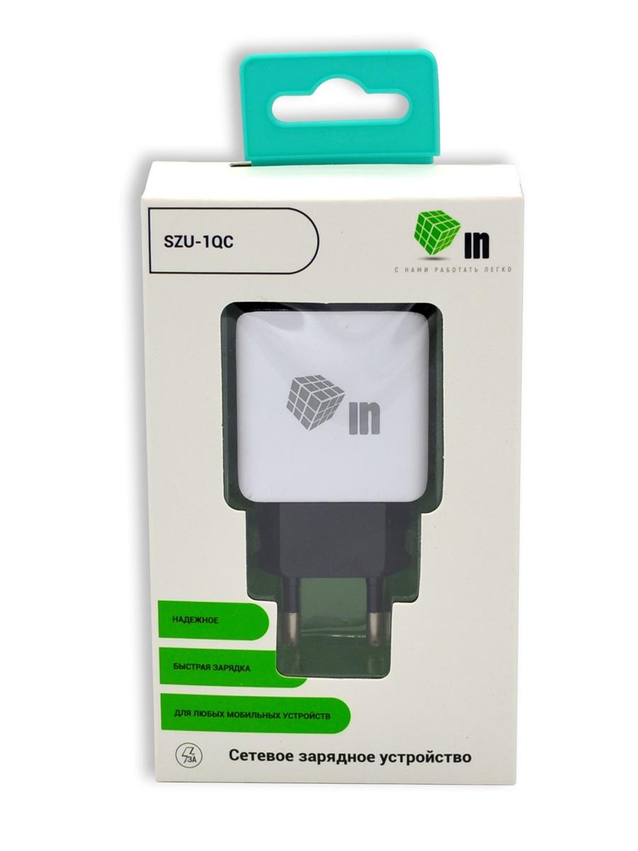 Сетевое зарядное устройство INNOVATION (SZU-1QC) 1 USB QC3.0, черный цена и фото