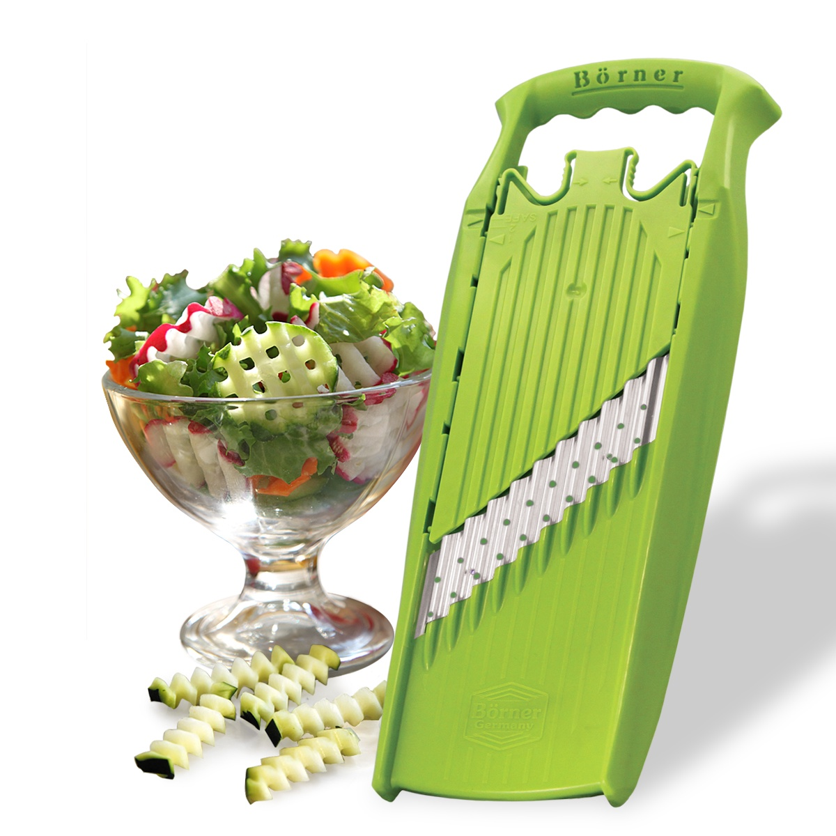 Овощерезка Borner Prima. Арт-декор (Германия), цвет: салатовый овощерезка для декораций borner классика германия цвет салатовый