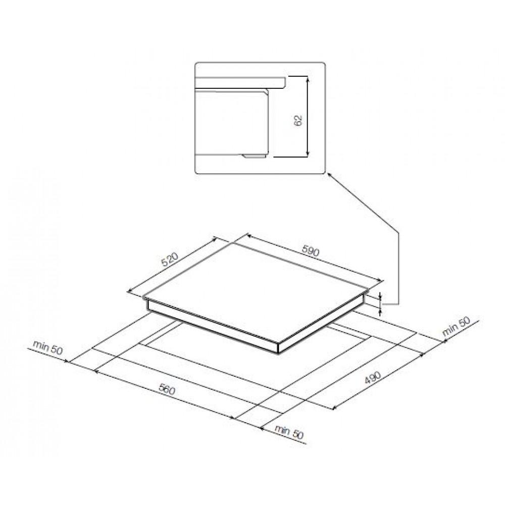 Индукционная варочная панель С FACETTE GRAUDE IK 60. 1 F GRAUDE