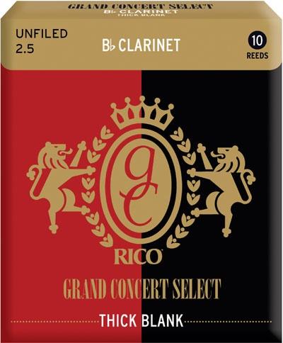 Трости для кларнета Bb Rico Grand Concert Select Thick Blank RCJ1025