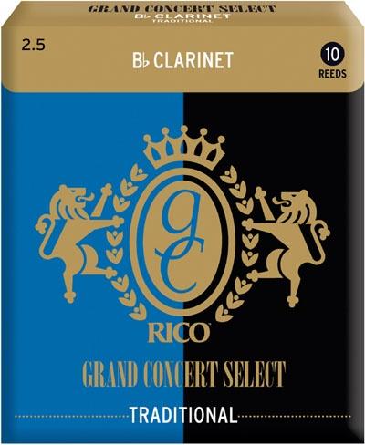 Трости для кларнета Bb Rico Grand Concert Select Traditional RGC10BCL250