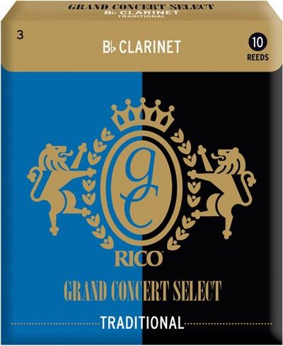 Трости для кларнета Bb Rico Grand Concert Select Traditional RGC10BCL300