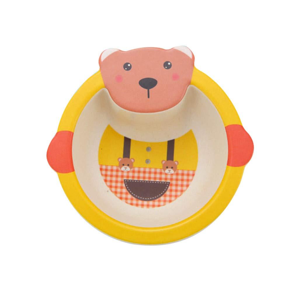 Детская тарелка, цвет желтый, 17х16х4,8 см