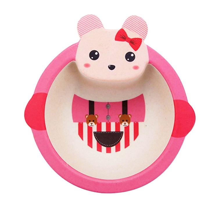Детская тарелка, цвет розовый, 17х16х4,8 см