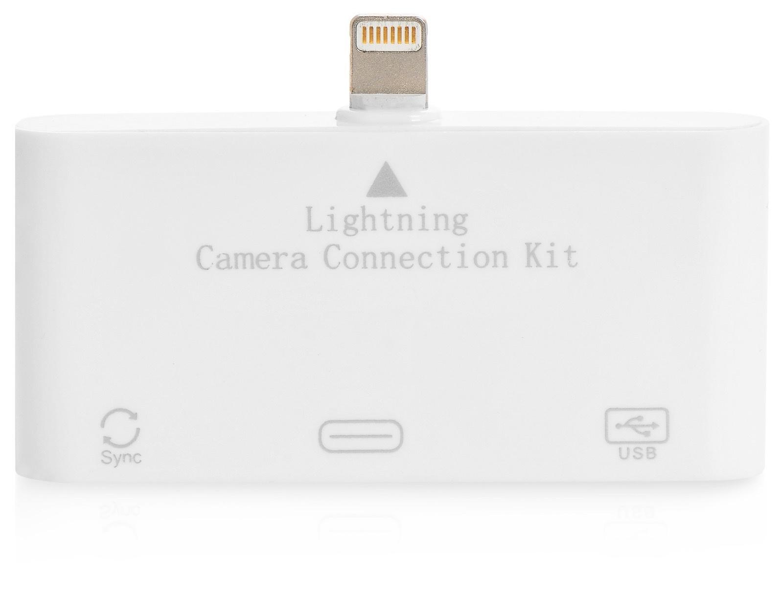 Адаптер переходник Gurdini Camera Connectoin For iPad4, iPad mini 3in1,110099,белый программа видеозаписи с веб камеры