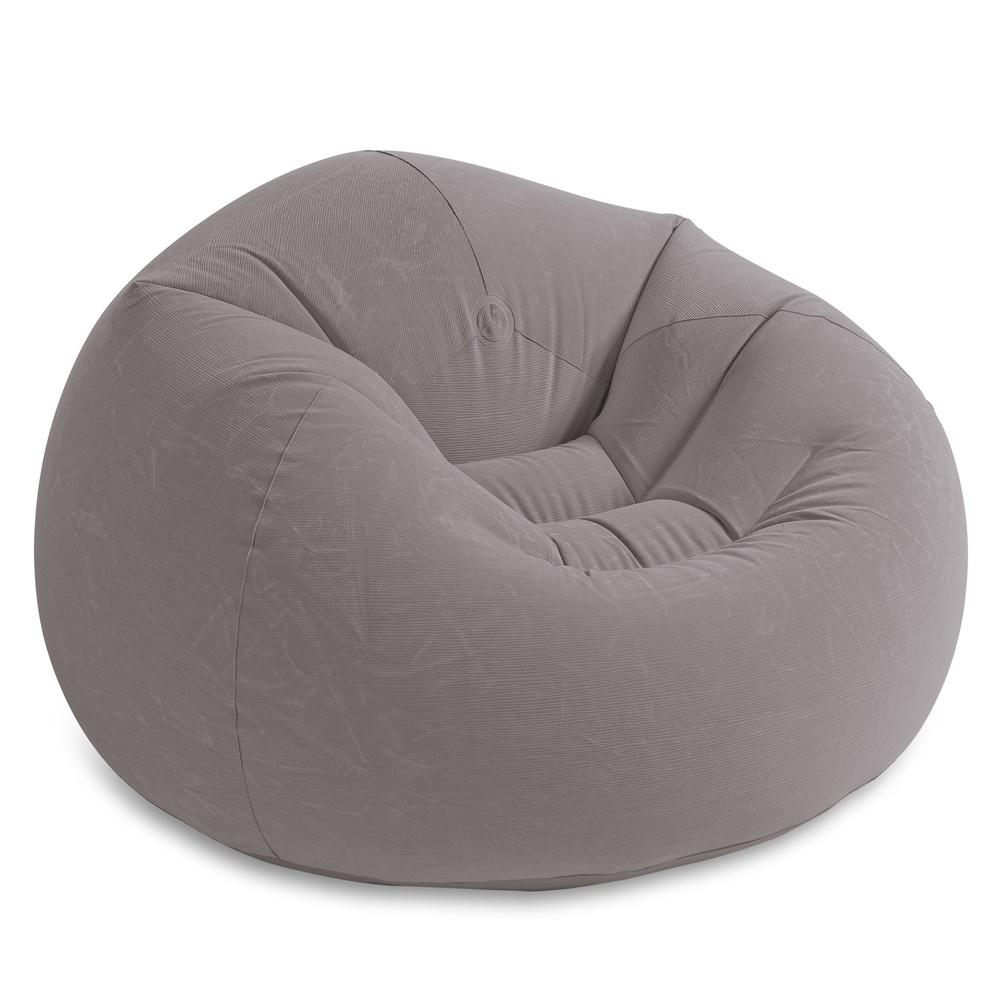 Кресло надувное INTEX BEANLESS BAG, 107x104x69 см, с флокированным покрытием цена