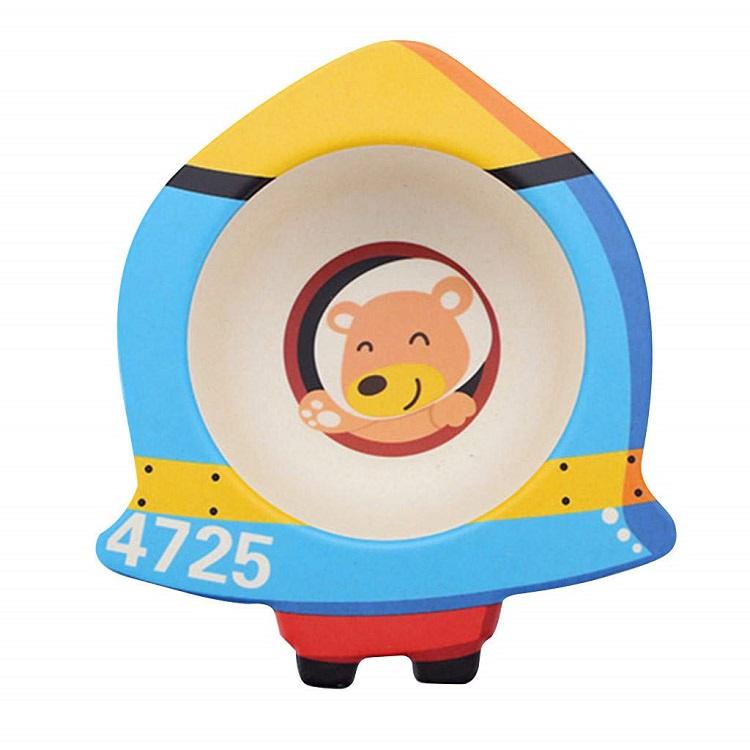Детская тарелка, цвет голубой, 17х16х4,8