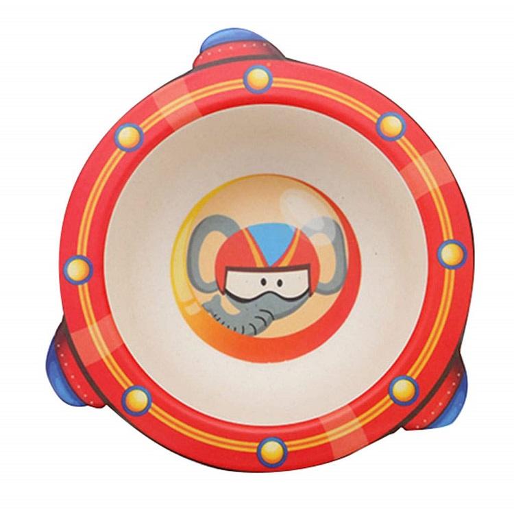 детская тарелка, цвет красный, 17х16х4,8 см