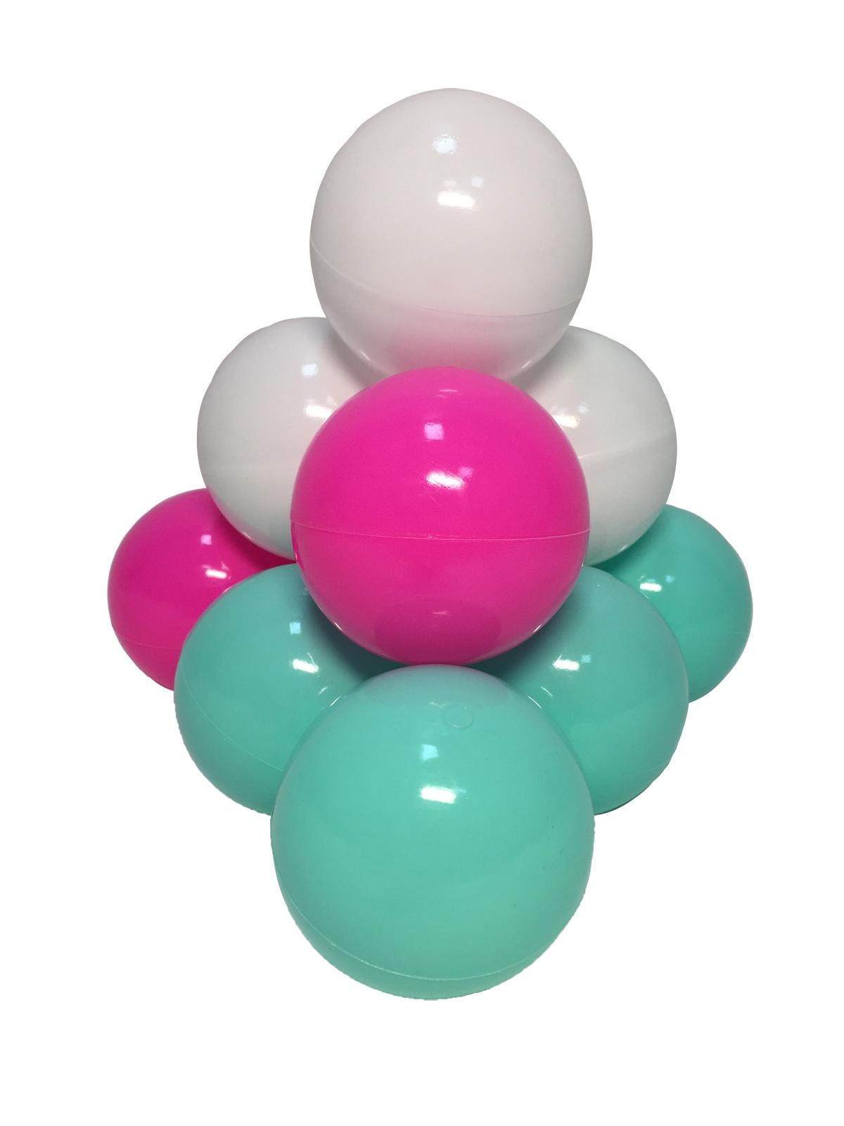 Комплект шариков Детский праздник 50шт: мятный, белый, розовый цена и фото