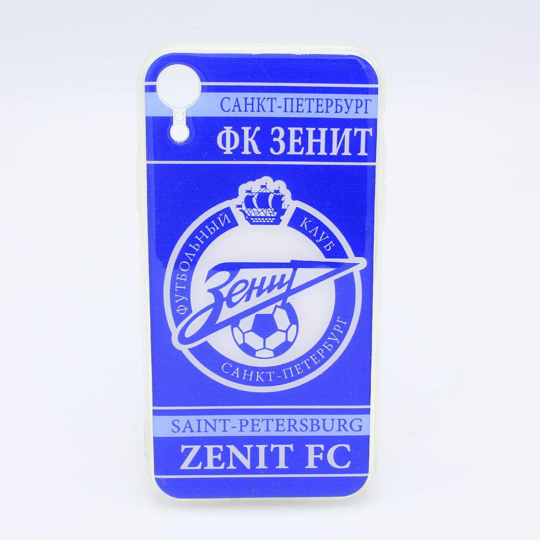 лучшая цена Чехол акриловый для Apple iPhone XR, ФК Зенит