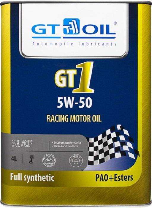 Масло моторное, синтетическое всесезонное GT1, SAE 5W-50, API SM/CF, 4 л