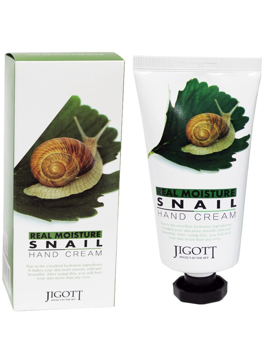 Крем для рук JIGOTT с муцином улитки Real Moisture Snail Hand Cream