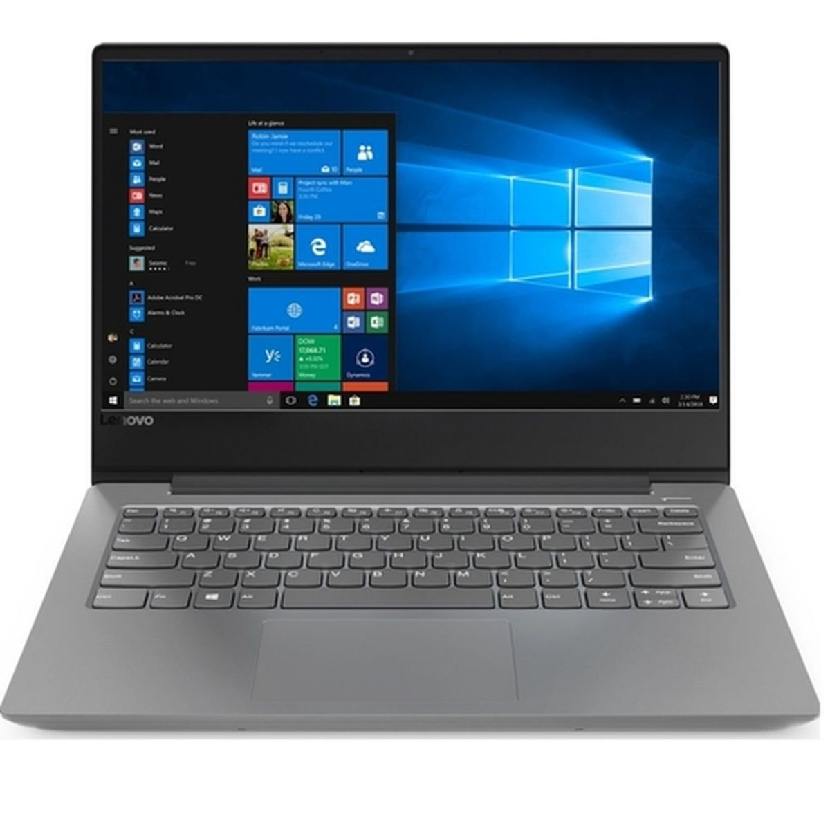 14 Ноутбук Lenovo IdeaPad 330S 81F401DBRU, серебристый ноутбук lenovo ideapad 330s 14ikb 81f401dbru intel® core™ i5 8250u kaby lake r 6 мб smartcache 1 60 ггц 4 гб 256 ssd 14 1920 х 1080 full hd ips intel uhd graphics 620 sma выделяется