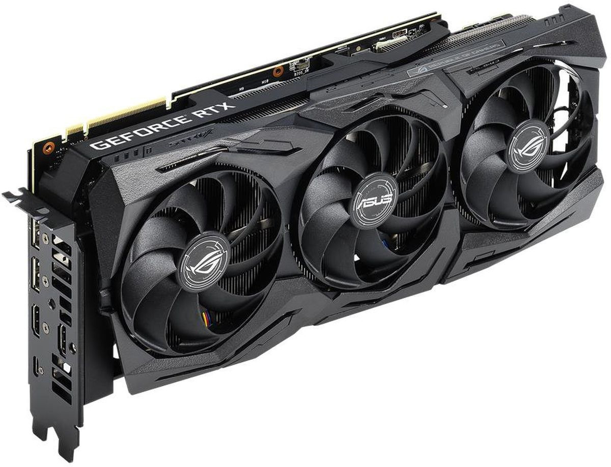 Видеокарта ASUS ROG Strix GeForce RTX 2080 8GB, ROG-STRIX-RTX2080-8G-GAMING видеокарта asus rog strix radeon rx 590 8gb rog strix rx590 8g gaming