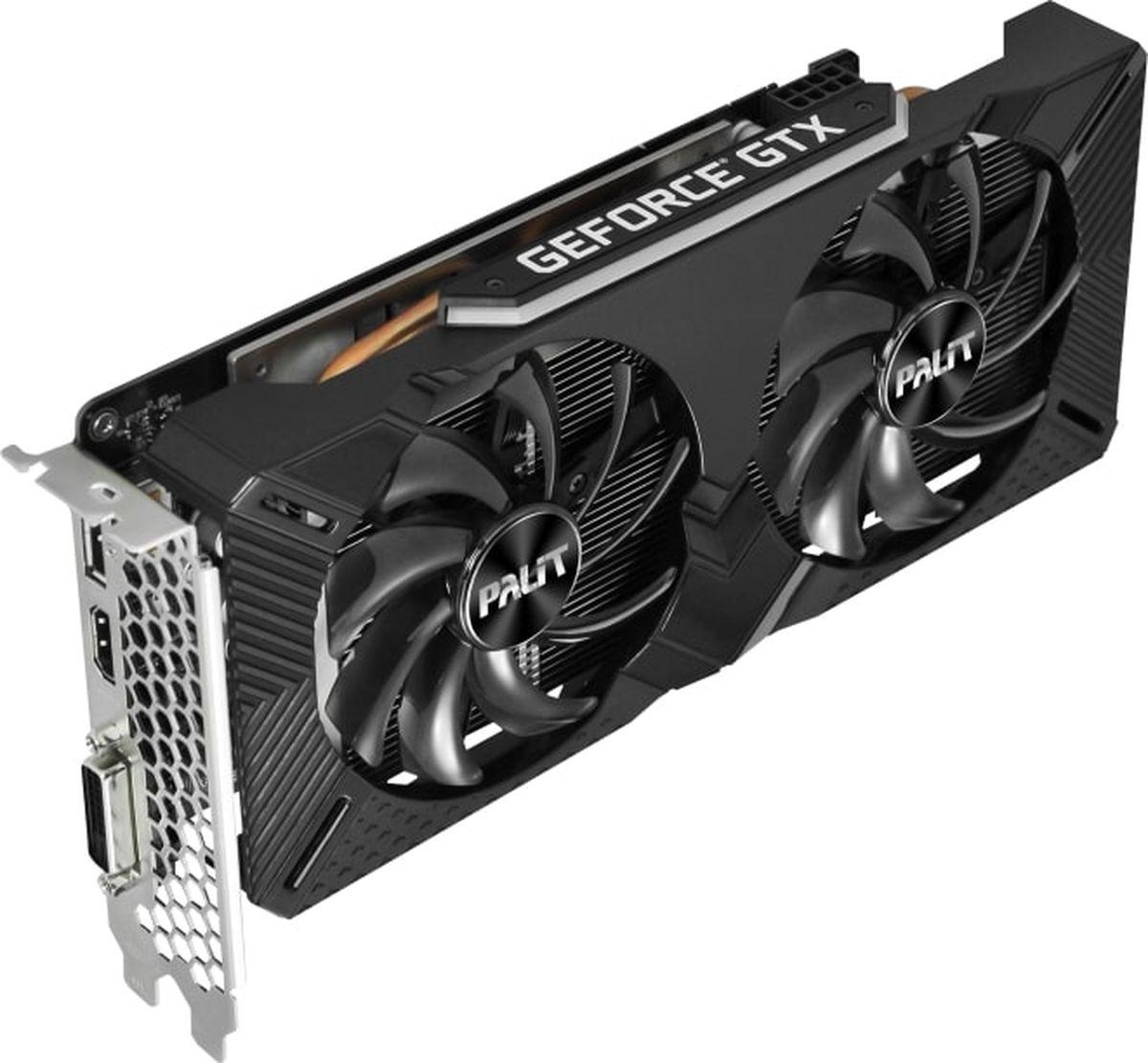 Видеокарта Palit GeForce GTX 1660 Dual OC 6GB, NE51660S18J9-1161A видеокарта palit pa gtx1060 dual 3g