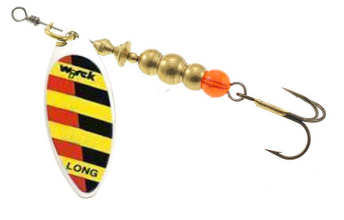 Блесна вращающаяся Wirek LO-3-4, желтый, черный, красный, 10 г