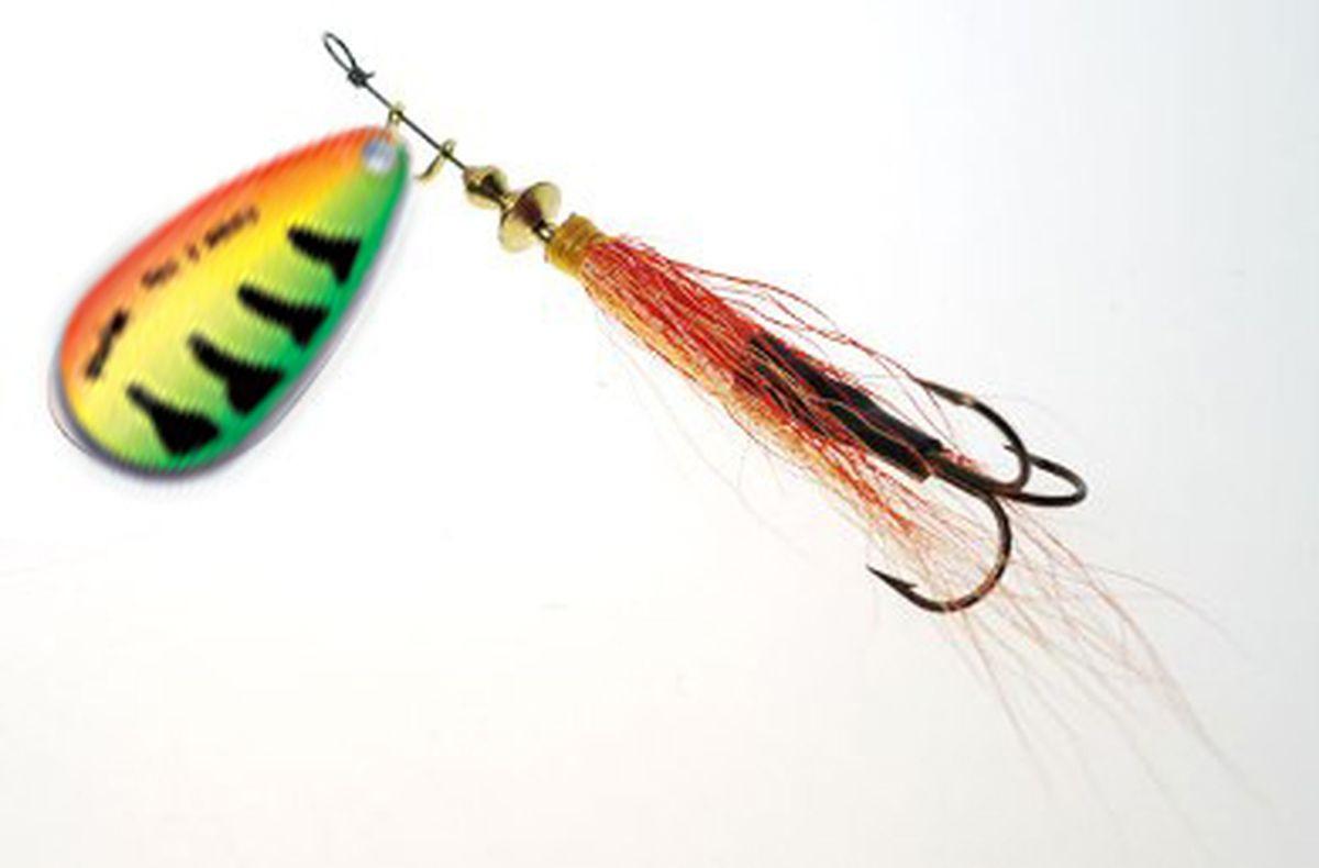Блесна вращающаяся Wirek LC-4-23, желтый, зеленый, оранжевый, 9 г, 2 шт