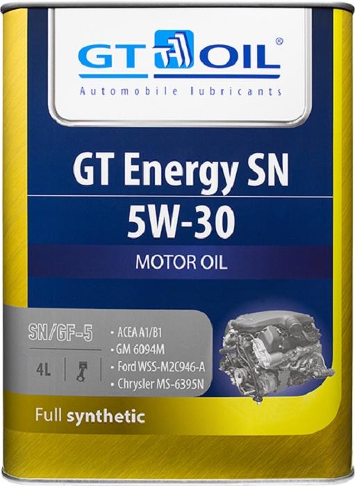 Масло моторное, синтетическое всесезонное GT Energy SN, SAE 5W30, API SN, 4 л