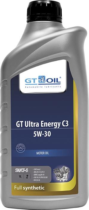 Масло моторное, синтетическое всесезонное GT Ultra Energy C3, SAE 5W-30, API SM,SN/CF, 1 л
