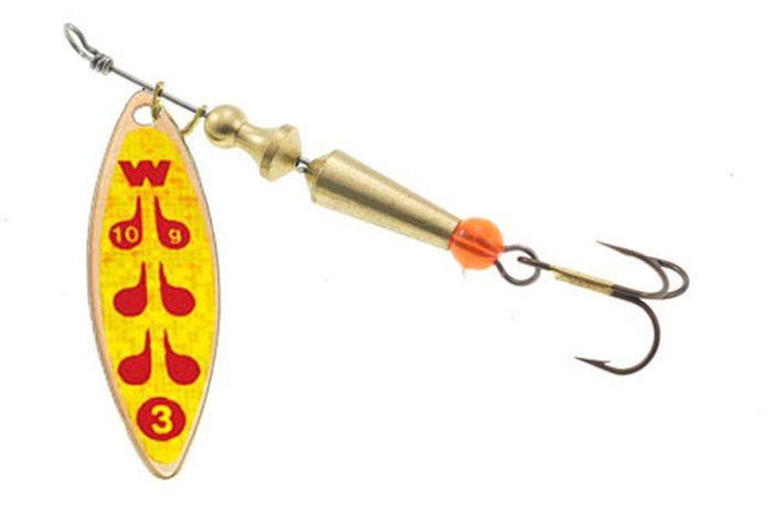 Блесна вращающаяся Wirek SL-3-5, желтый, 10 г, 2 шт