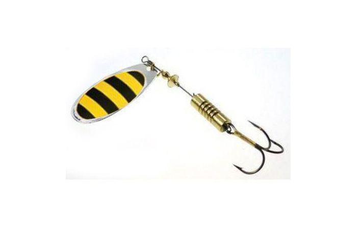 Блесна вращающаяся Wirek RO-4-14, желтый, черный, 10 г, 2 шт блесна вращающаяся wirek ro 2 1 черный желтый 4 г